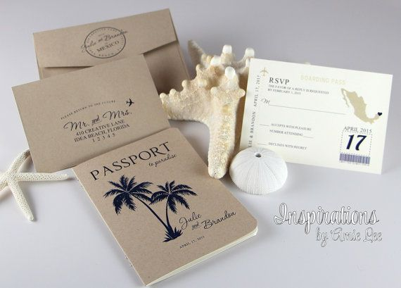 Best 25 Passport wedding invitations ideas – Passport Wedding Invites