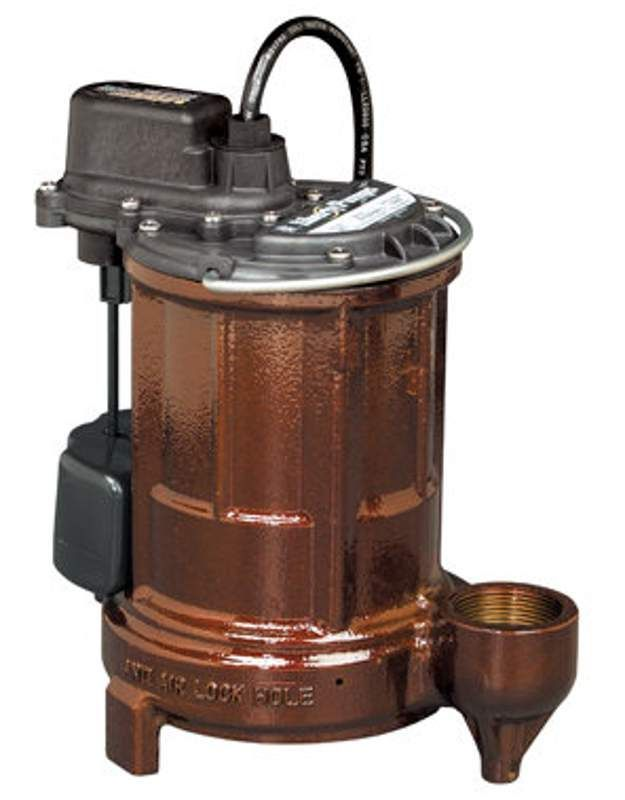 Liberty Pumps 257 1/3 HP Submersible Sump Pump with Vertical Magnetic Float 10 Cord Pumps Sump Pumps Submersible