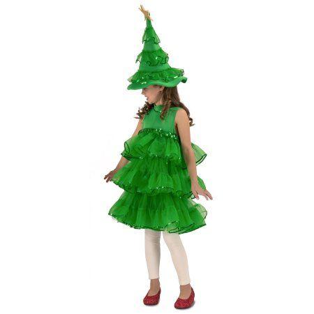 Glitter Christmas Tree Halloween Costume Walmart Com In 2020 Christmas Tree Costume Tree Costume Christmas Tree Dress