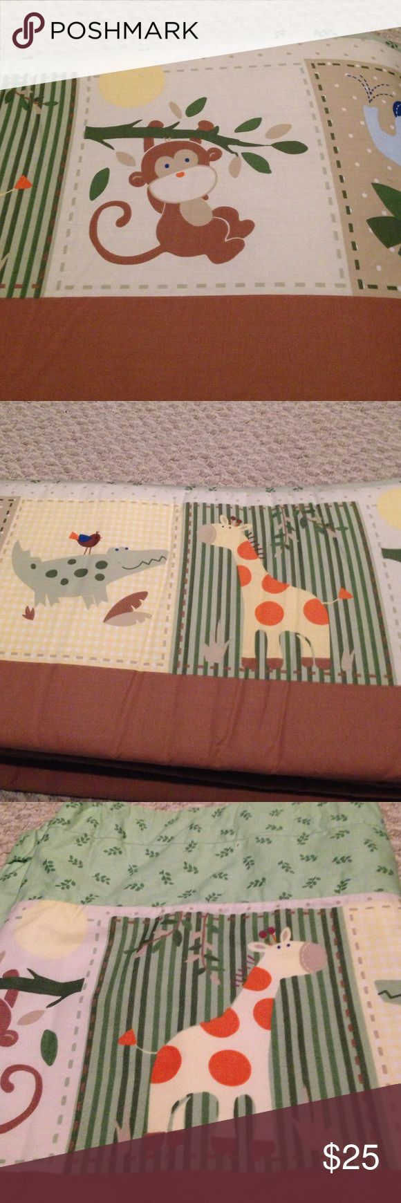 Crib Bumper Set Crib Bumper, Dust Ruffle, and Matching Valance.  Great Gender Neutral Pattern!!! Circo Other