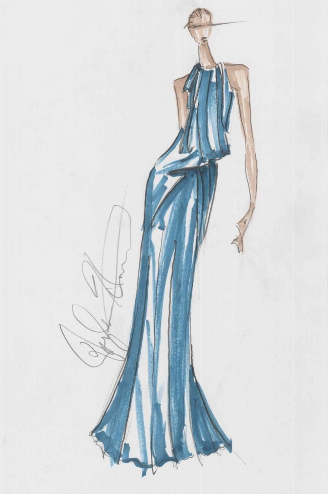 Douglas Hannant fall 2013 inspiration #Fashion #Sketch