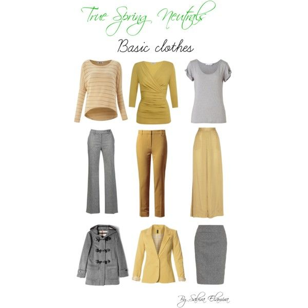 """Warm spring neutrals"" by sabira-amira on Polyvore"