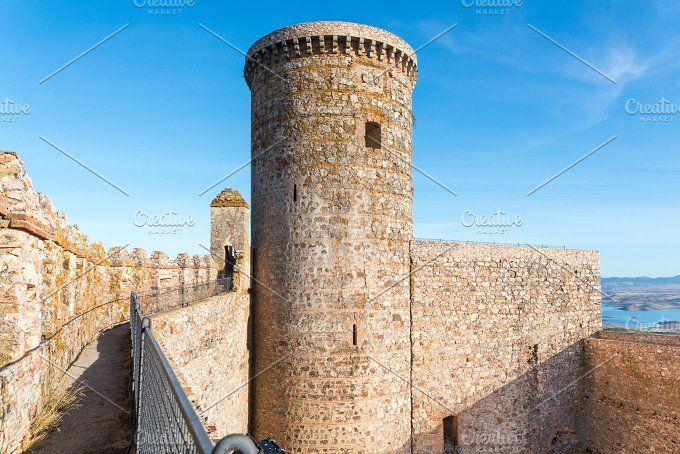 Castle of Puebla de Alcocer by Fotoeventis on @creativemarket