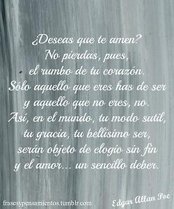Uno de los primeros poemas que leí de Poe ♥