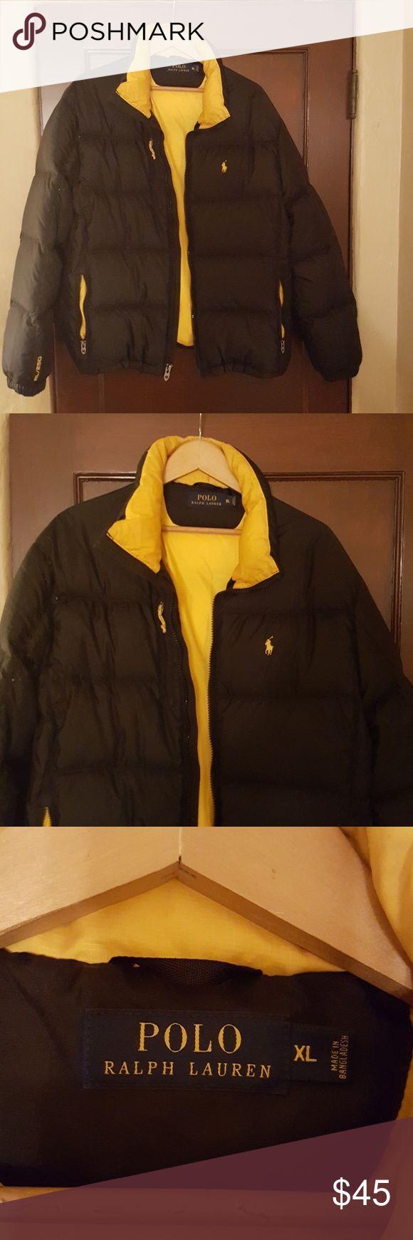 Men's Ralph Lauren/Polo Jacket Black down jacket with gold trim Polo by Ralph Lauren Jackets & Coats Puffers