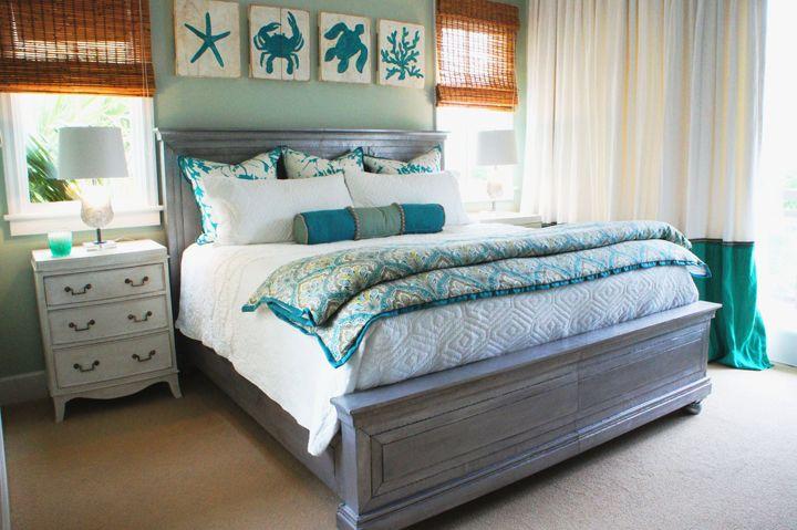 turquoise coastal bedroom   Cara McBroom