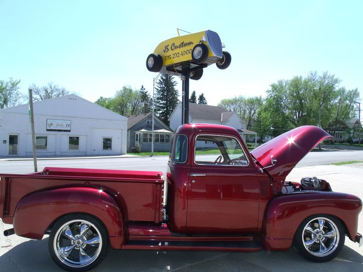 1950 Chevy truck with a 4 cylinder Cummins motor.
