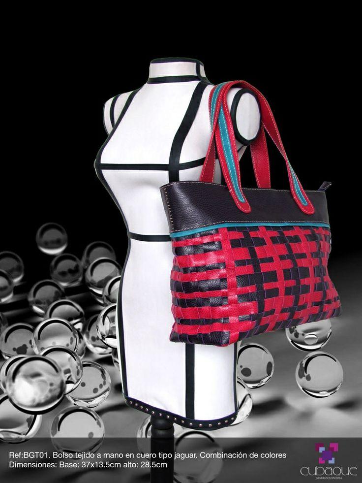 Bolso tejido en cuero #handmade #bags #accesorios #hechoamano #leather #cuero #bolsos