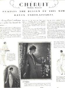 1928 advertisment, Carter's rayon underwear, Cheruit / Madame Wormser   eBay