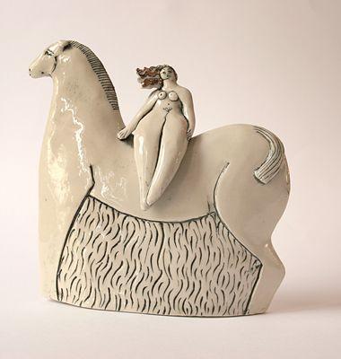 Lady Godiva by Tania BabbCeramics Animal, Ceramics Art, Ceramics Figures, Art Sculpture, Tania Babb, Figures Ceramics, Inspiration Ceramics, Art Ceramica, Ceramics Sculpture