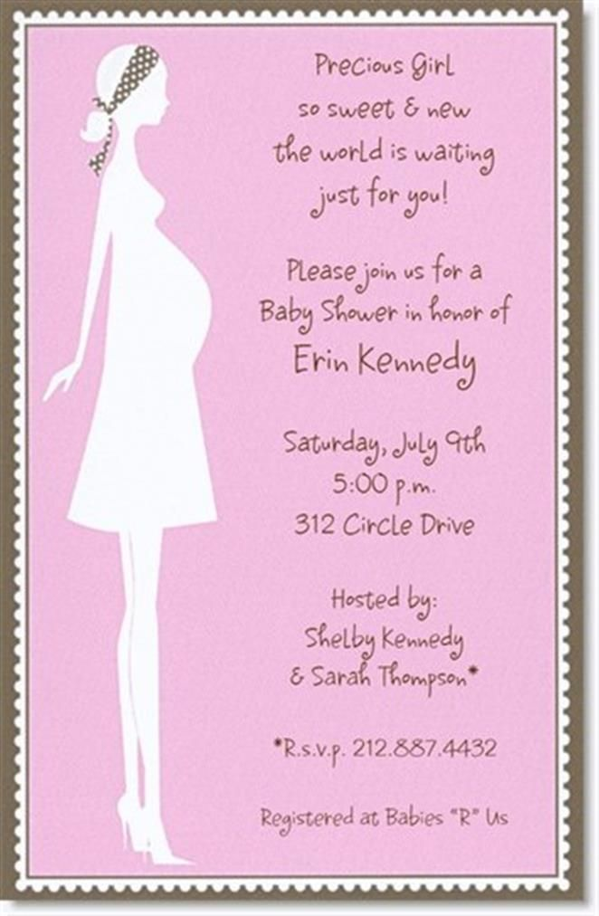Baby Gift Wording : Best simple design baby shower invitations wording
