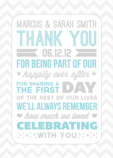 wedding thank you note. Like the wording on this one