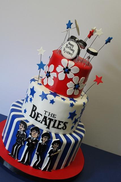 The Beatles Birthday cake! Love it!