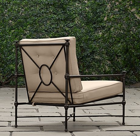 Catalina Lounge Chair Painted Metal | Ottomans | Restoration Hardware