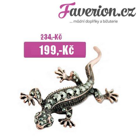 Sleva pro měsíc ČERVEN!  Pro tento měsíc jsme si pro Vás připravili slevu na poměrně netradiční, přesto příjemně vyhlížející brož ve tvaru ještěrky!  http://www.faverion.cz/broze-plazi-zaby/broz-jesterka/