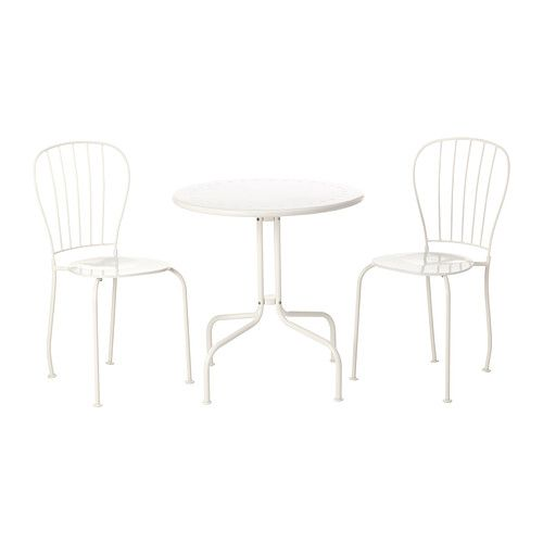 LÄCKÖ Table and 2 chairs IKEA Easy to keep clean – just wipe with a damp cloth. The drain hole in the seat lets water drain out.