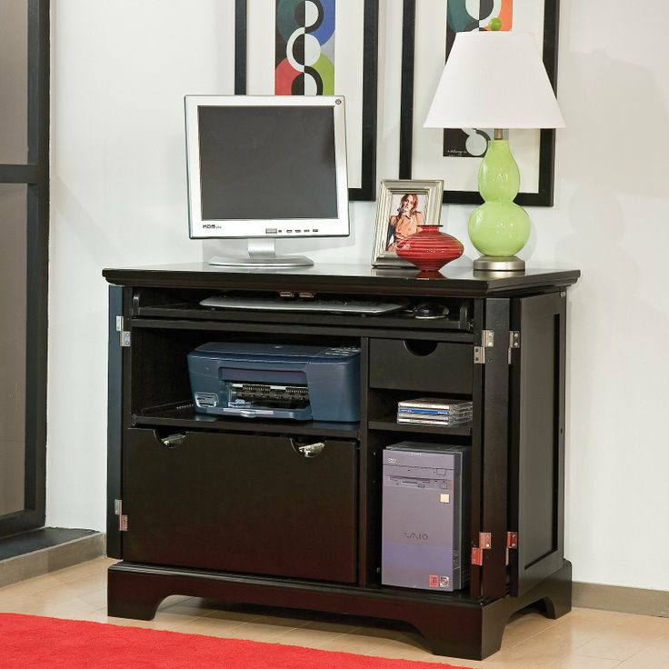 contemporary computer armoire desk computer armoire. bedford ebony compact computer armoire 41198 contemporary desk f