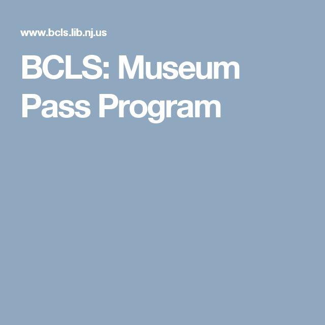 BCLS: Museum Pass Program