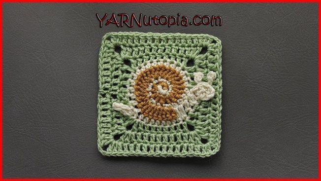 Free Crochet Tutorial: Snail's Pace Granny Square