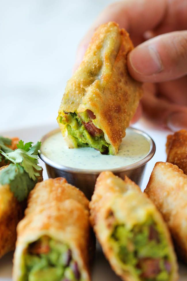 Cheesecake Factory Avocado Egg Rolls - It's so much cheaper to make right at home and it tastes a million times better too! | Damn Delicious