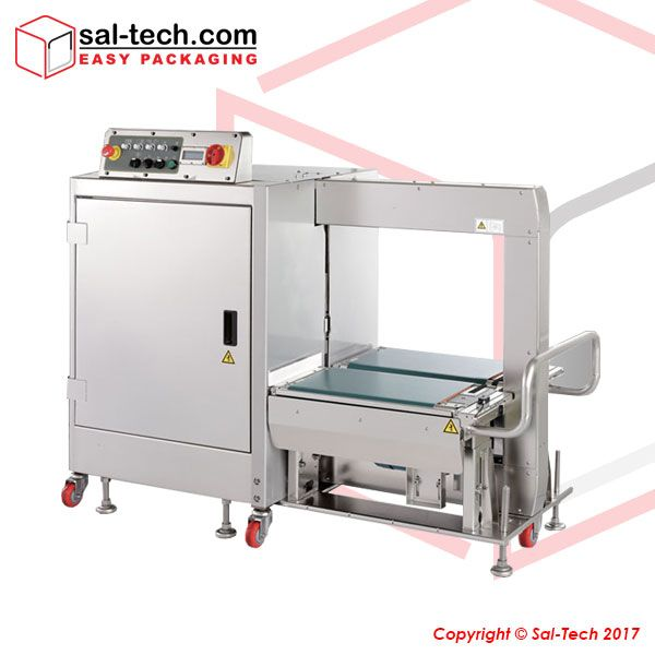 STEP TP-702YAM is fully automated with an IP 54 certification that ensures quality of goods being packed. It does not wear out as it is crafted with high grade stainless steel and anti-corrosive parts to match. Strapping at a speed of 35 packages per minute added with an easy integration of production lines, this is indeed a cost effective solution meeting your requirements. #SideSealStrappingMachines #StrappingMachines #SalTechEasyPackaging  Inquire now: Call +45 7027 2220 Skype…