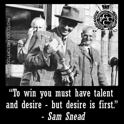 This week in golf history, Sam Snead won the 1946 Open Championship, which was the first playing of the Open after World War II and his second attempt at the Claret Jug. Snead still holds the record for the most PGA Tour wins with 82 official events, but won many more unofficial tournaments. #TBT #GolfHistory #Golf #GolfCollege #PGCCGolf