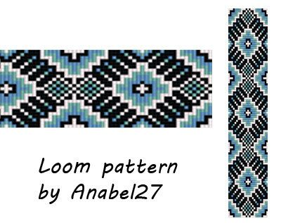 Loom pattern ethnic style beaded pattern 52 par Anabel27shop