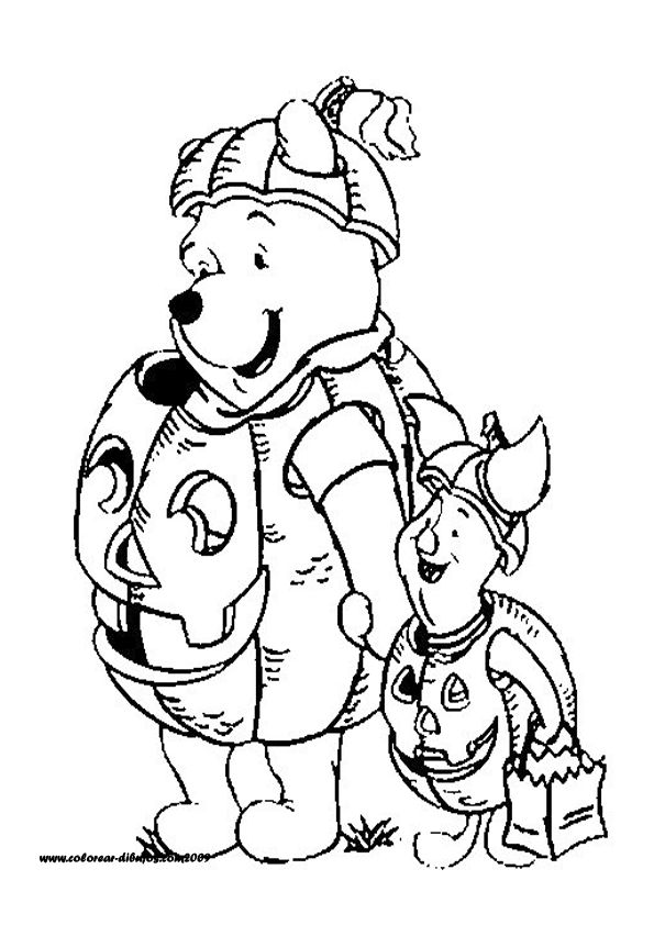 pooh holloween coloring pages - photo#6