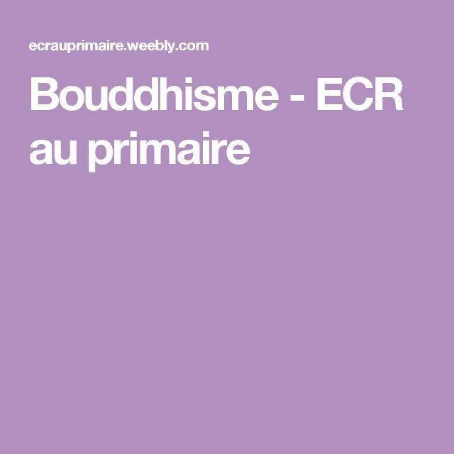 Bouddhisme - ECR au primaire