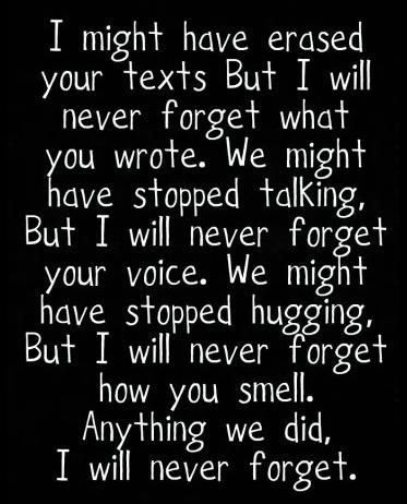 This is sad and so true of past friendships, relationships, lost loved ones, etc...I'll always remember our all night talks in your green jeep..
