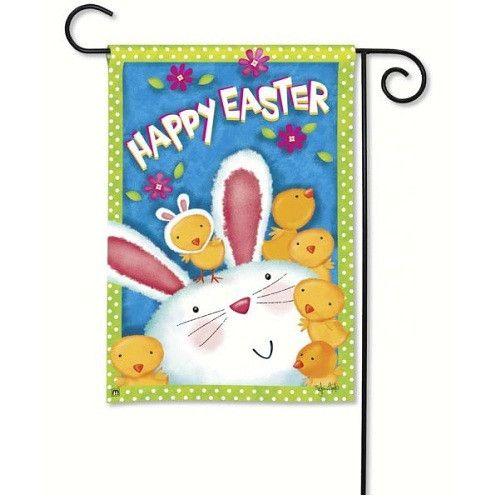 Bunny Wanna Be Garden Flag