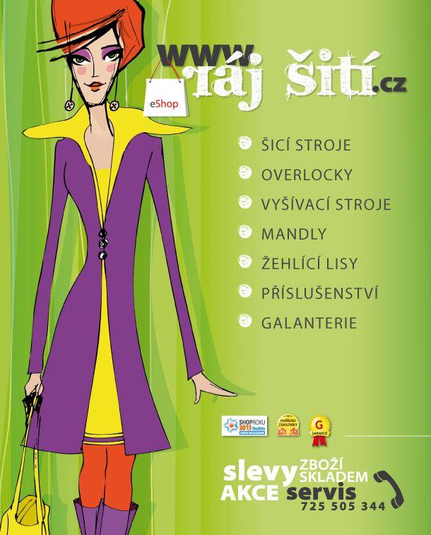 www.raj-siti.cz Specialista na šicí stroje pro domácnost, mandly a žehlicí techniku, příslušenství, náhradní díly a galanterii