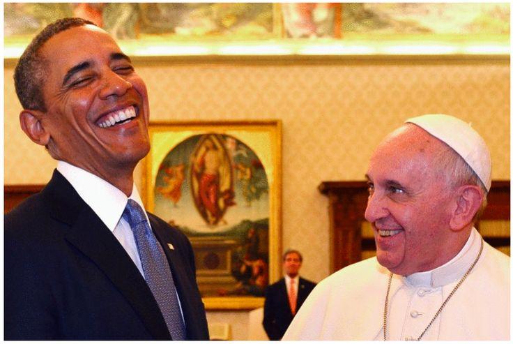 U.S. Pres. Obama + Pope Francis