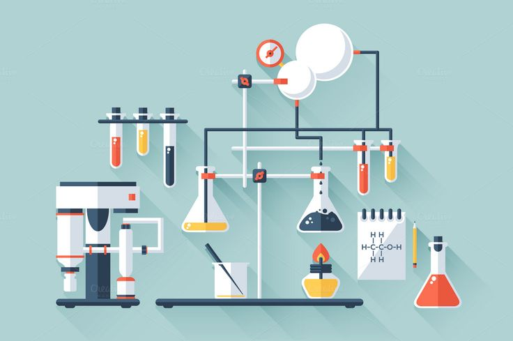 Chemistry Laboratory by Snitovets on @creativemarket