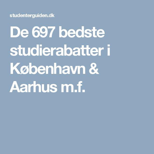 De 697 bedste studierabatter i København & Aarhus m.f.