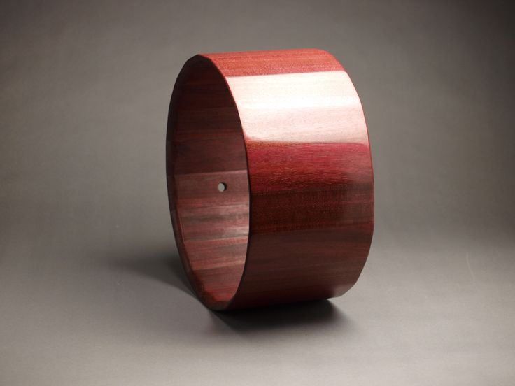 "Purpleheart snare drum shell by JJ Savage, 7"" x 14"""