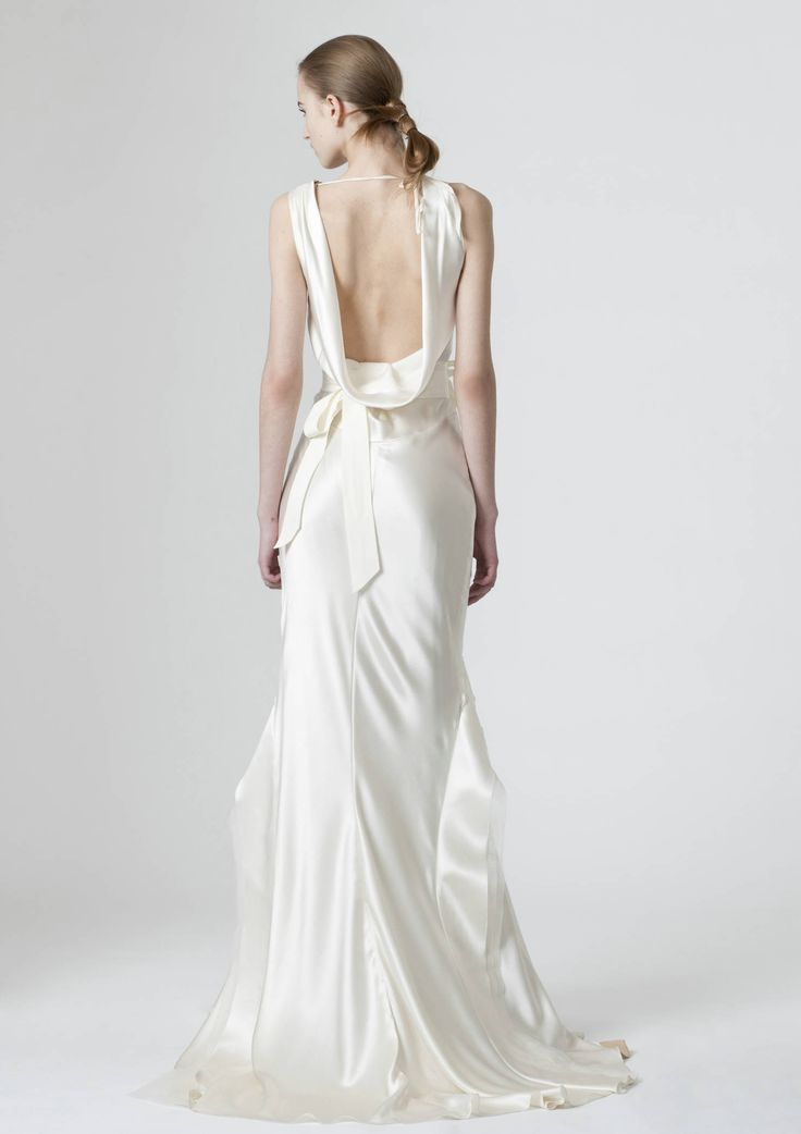 V neck draping back designer wedding dress 2012 wedding for Vera wang v neck wedding dress