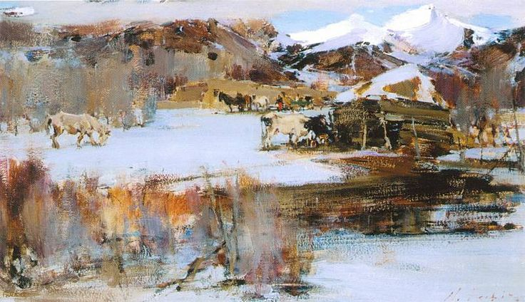 First snow 1927 1933 nicolai fechin landscape for Nicolai fechin paintings for sale