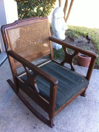 austin vintage cane back 1950u0027s wide cushioned wooden rocking chair 50 http