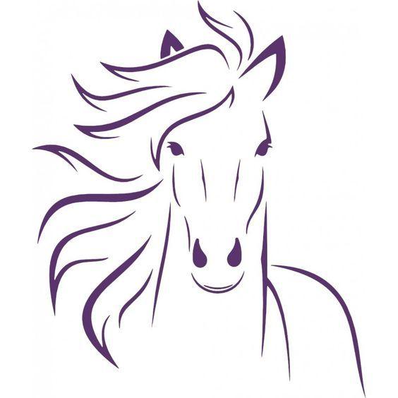 pferdekopf mehr  horse drawings silhouette art painting