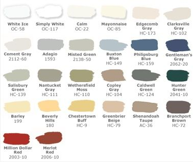 Benjamin Moore Pottery Barn Paint Colors