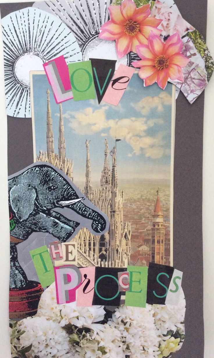 Love the process, collage made for my practising booth :-)