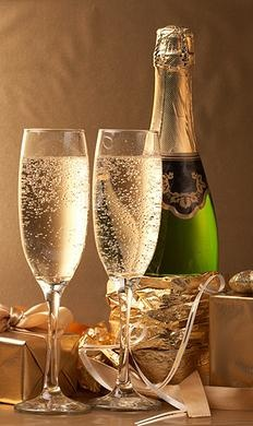 Time for champagne, always!