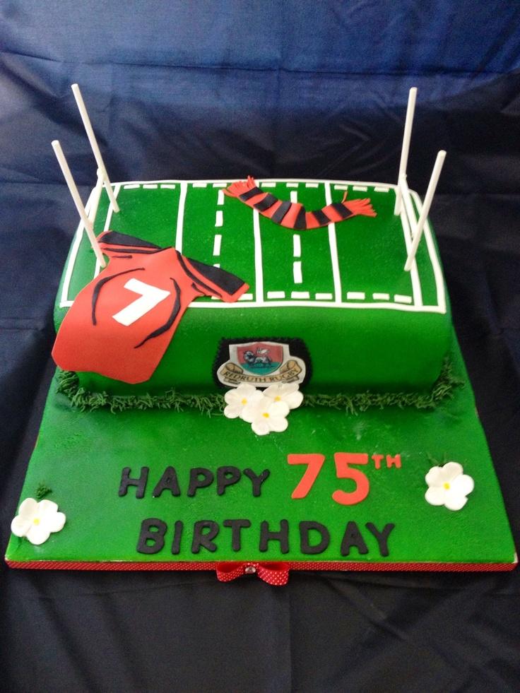 Rugby cake  www.yummymummybakery.org.uk