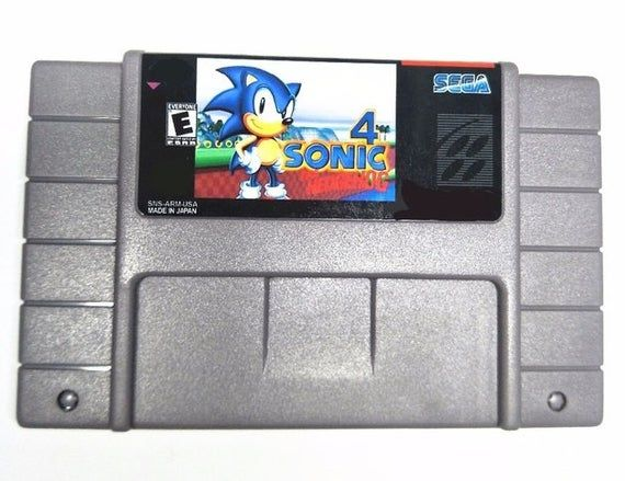 Sonic The Hedgehog 4 Reproduction Super Nintendo Snes Game Super Nintendo Sonic The Hedgehog 4 Game Sonic