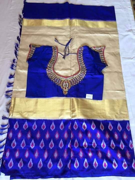 Buy Ikkat Saree with Customised Blouse