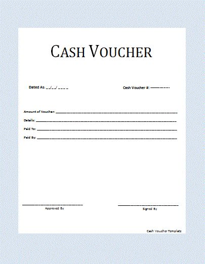 button to get this Cash Voucher Template Voucher Pinterest - payment voucher sample