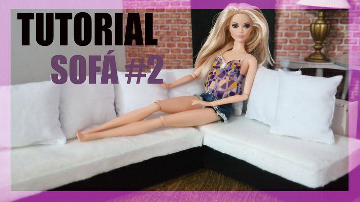 Barbie Tutorial -  Como fazer um Sofá #2 para sua Barbie, Monster High, EAH