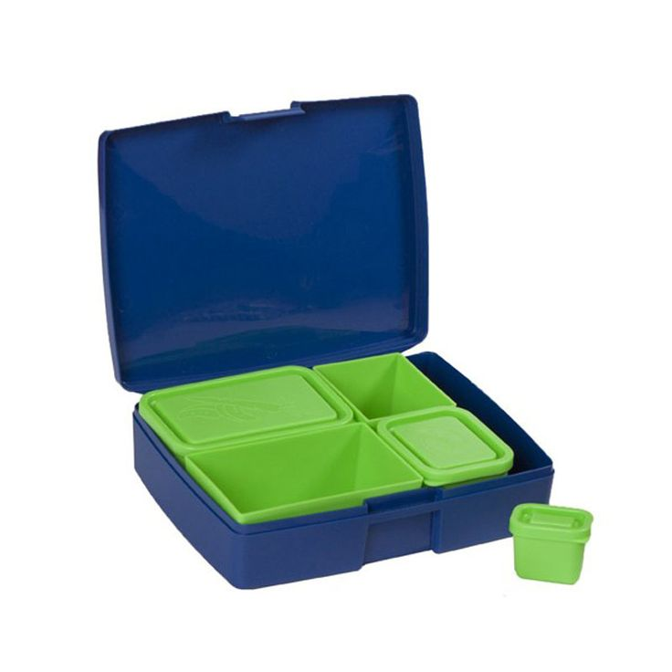 Laptop Lunches-Kids Lunchboxes-Bento Lunchbox {Blue and Lime}