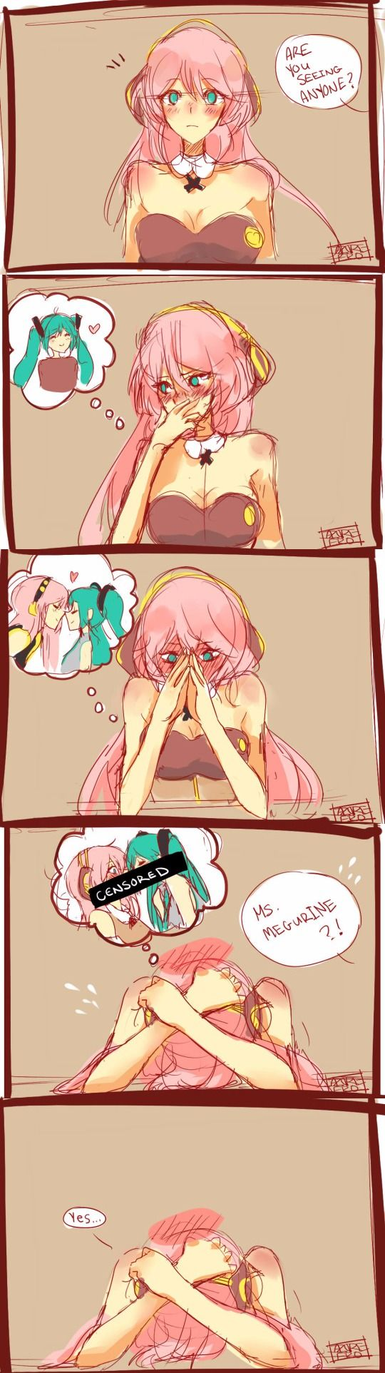 Luka in an interview after she secretly started dating Miku… Control the gay, Luka. by Azure-Zer0